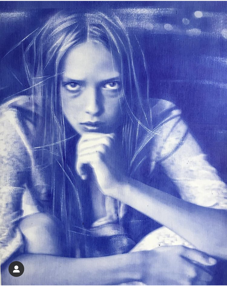 Rose Hansen, stylo bic sur papier, 60 x 80 cm, 2020,Collection privée